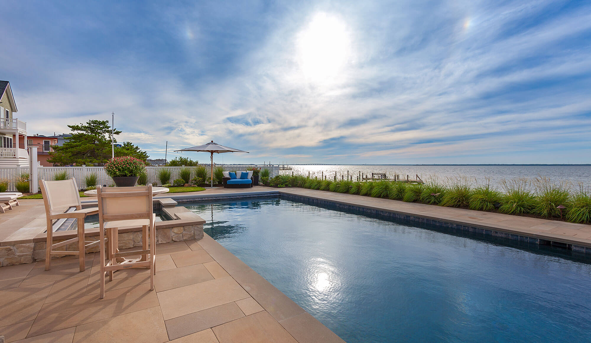 Pool Hardscaping Design by Bay Ave Plant Company on LBI